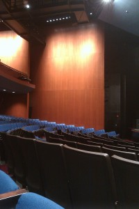 A partial View of GWL Theater Seating from a Aisle