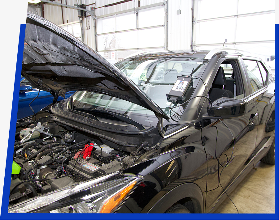 Campbell Collision vehicle scanning