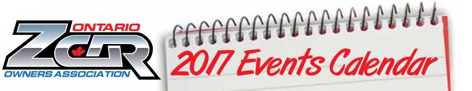 OZC 2017 Events Calendar