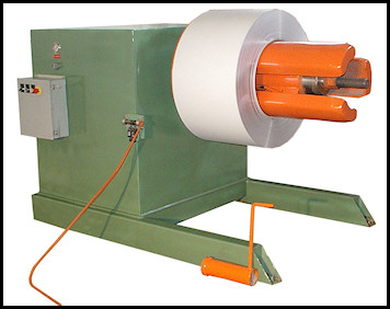 Decoiler with coil