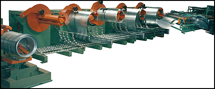 Multiple Decoilers with Coil Strip Feed and Cut To Length Line Systems