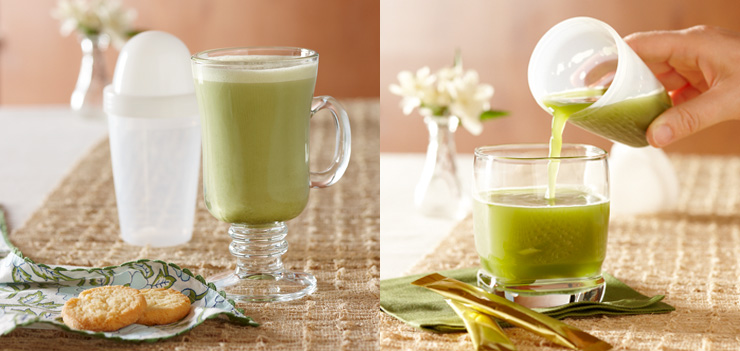 Stay Fit Green Tea Sake Martini