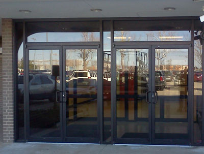 Storefront glass replacement
