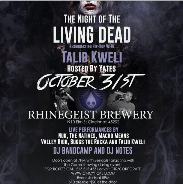 Night of the Living Dead Talib Kweli Cincinnati
