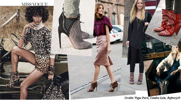 street style print patterned boots