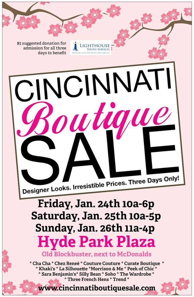 Cincinnati Boutique Sale January 2014