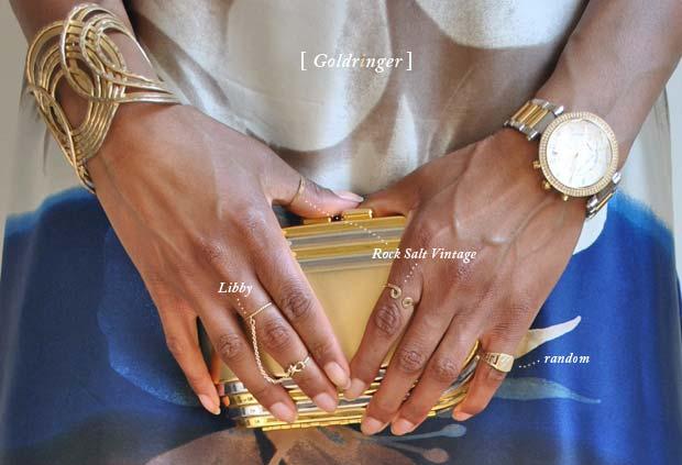 Gold knuckle rings Cincinnati fashion