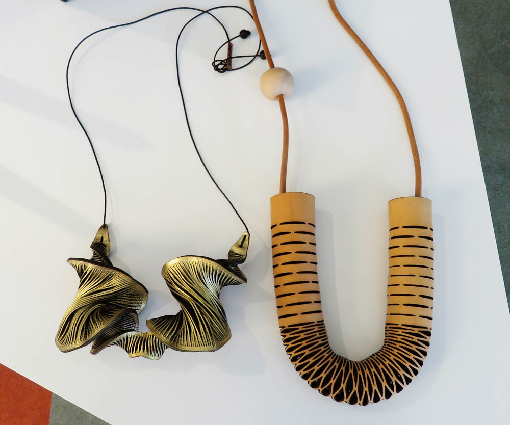 Oropopo necklaces, $154 and $165
