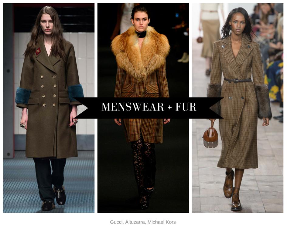 Menswear and fur