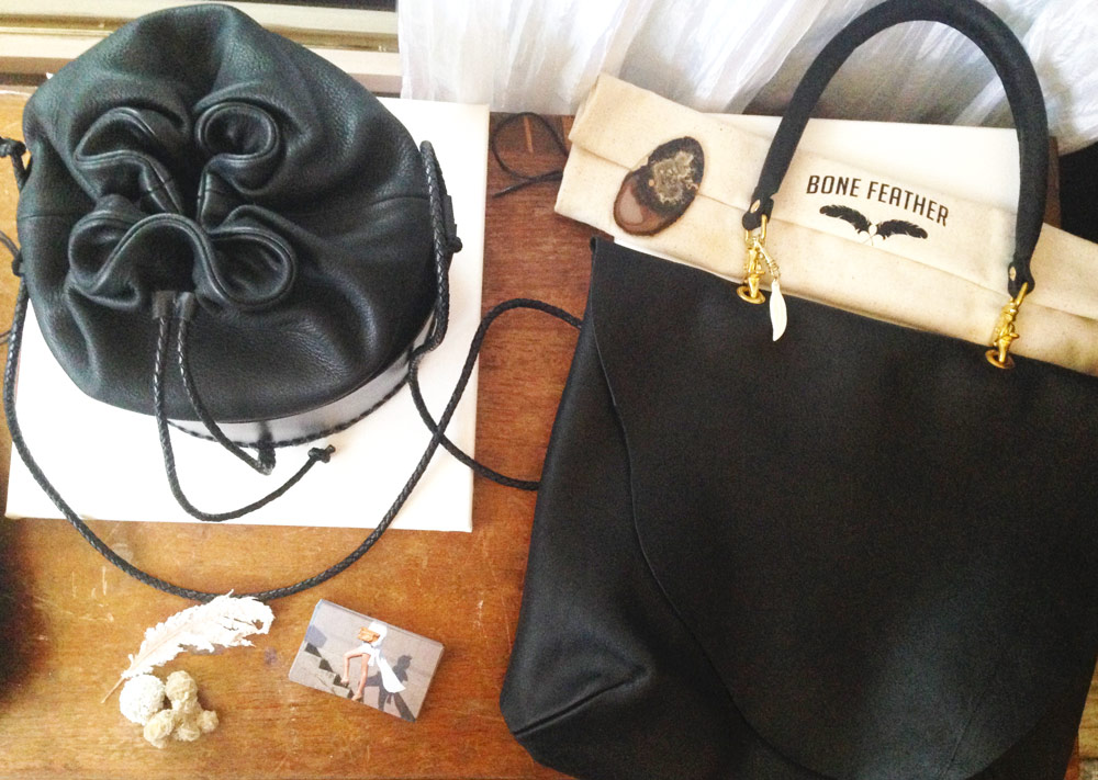 The Bone Feather bags I'm obsessing over