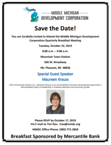 Quarterly Breakfast with Maureen Krauss Flyer