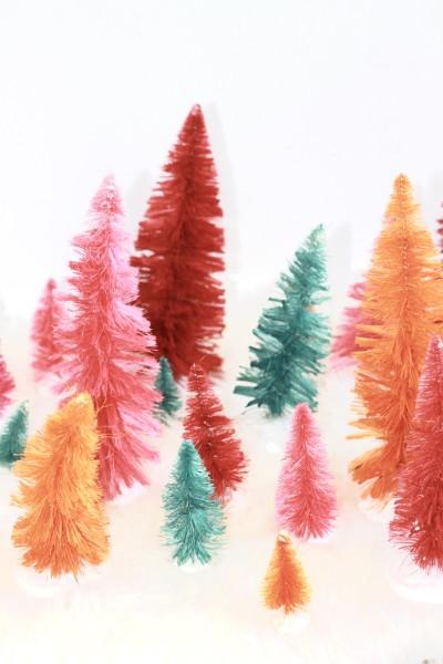DIY Bottle Brush Trees