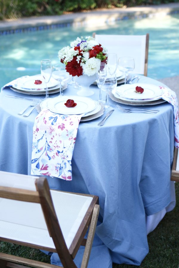 Chic Fourth of July Table