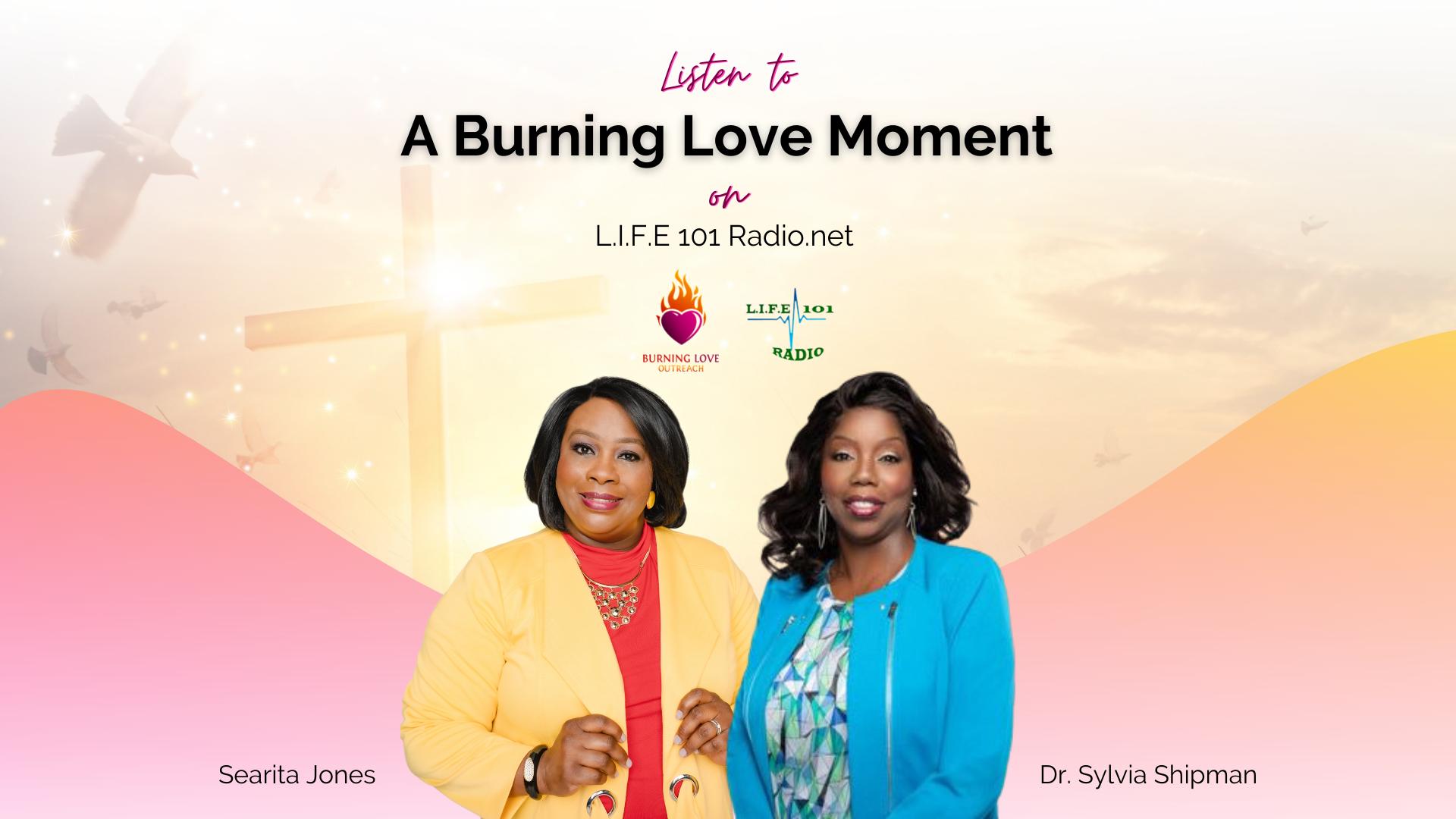 Burning Love Moment Podcast Flyer
