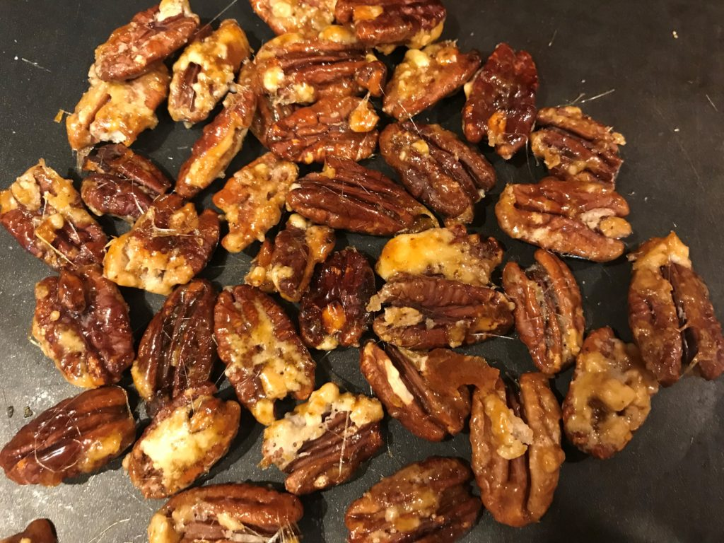 Carnelized Pecans Cooling