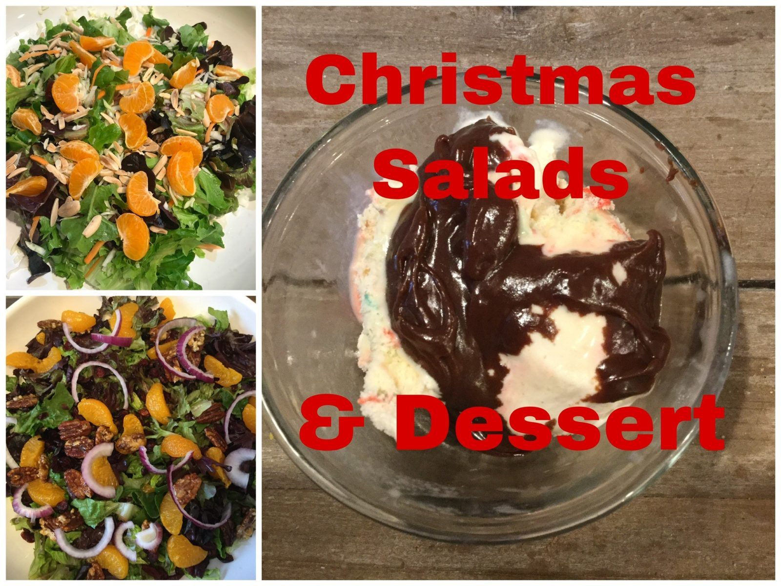 Christmas Salads and Dessert