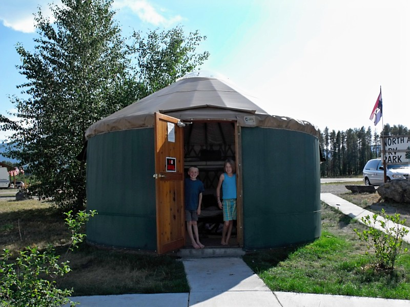 Yurt near Glacier National Park
