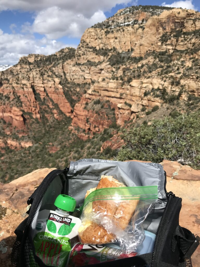 lunch on a hike