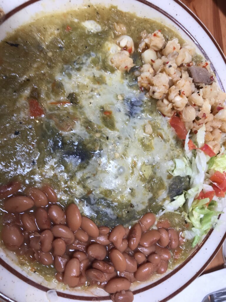 Authentic New Mexican meal