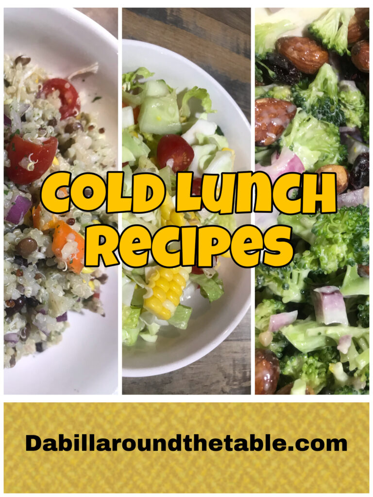 Cold Lunch Recipes