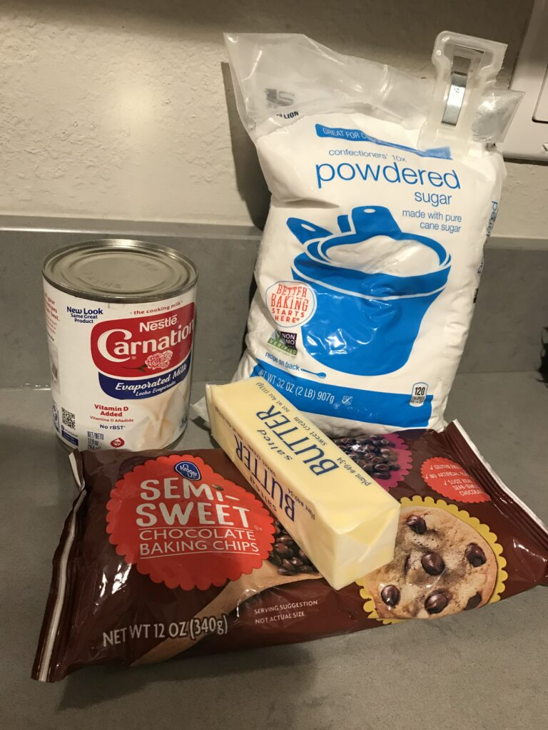 Ingredients for Hot Fudge