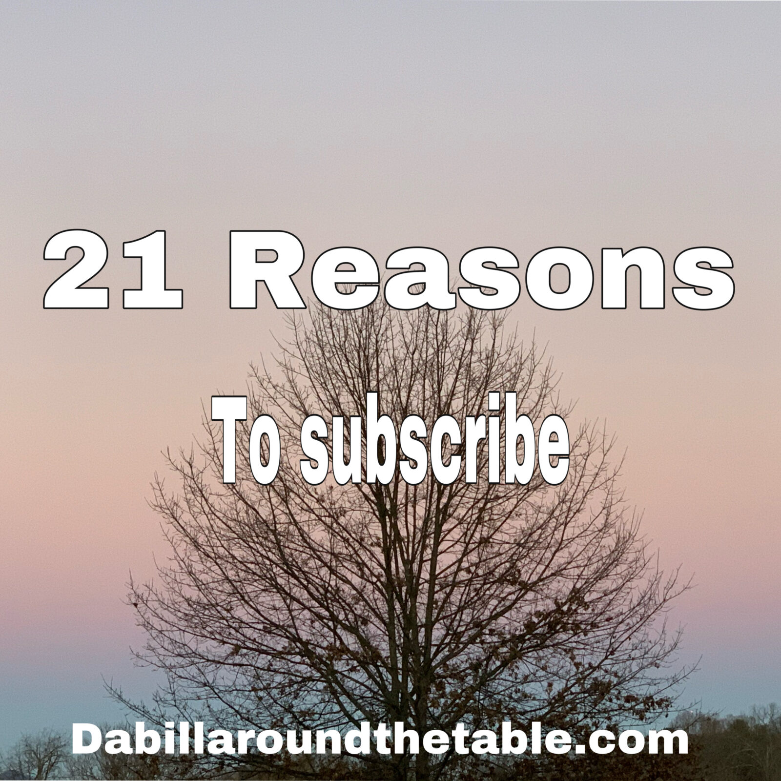 21 Reasons to Subscribe to dabillaroundthetable monthly email in 2021