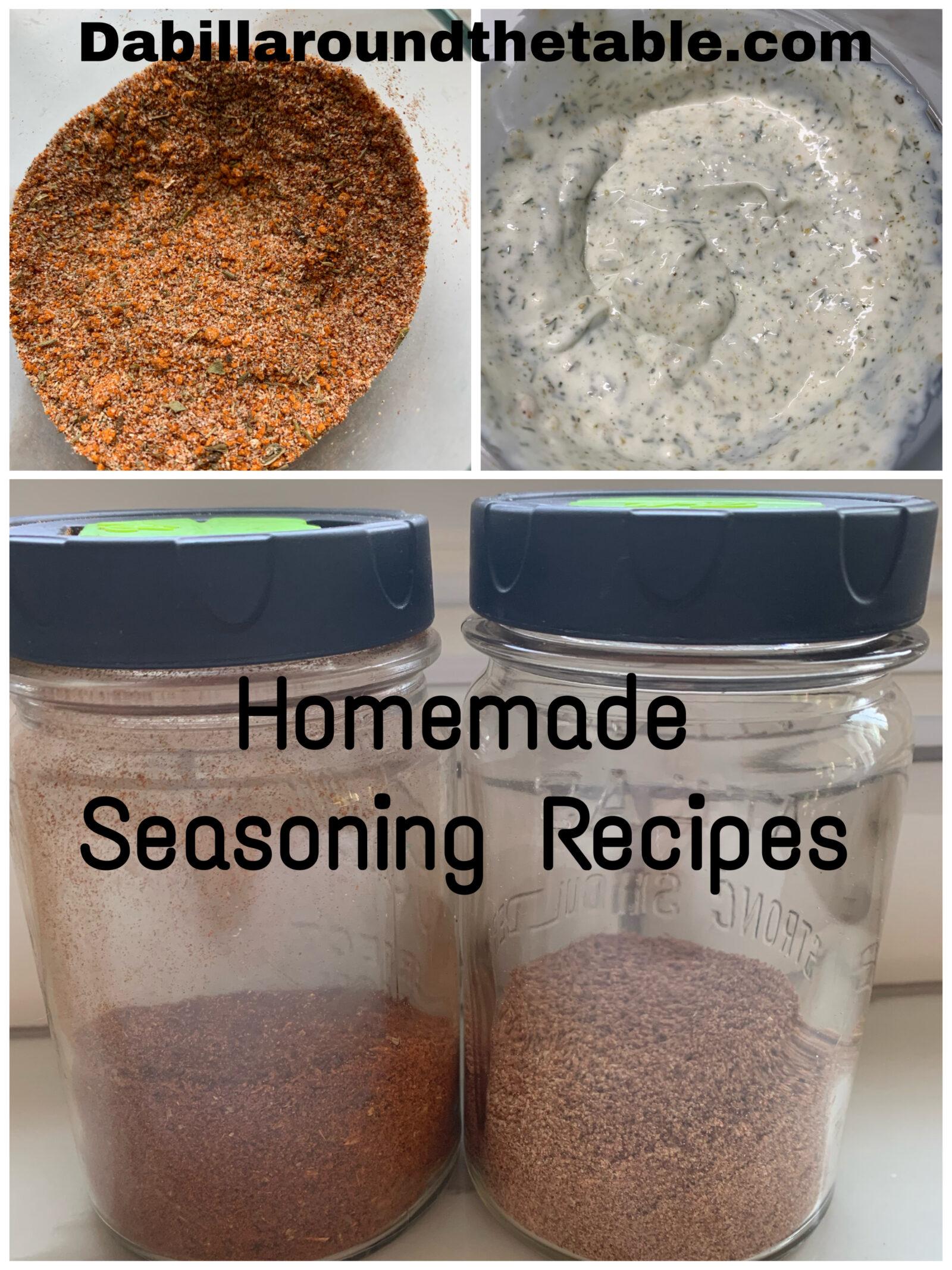 Homemade Seasoning Recipes and More