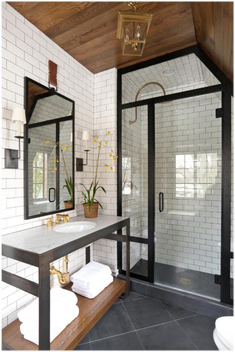 black iron shower