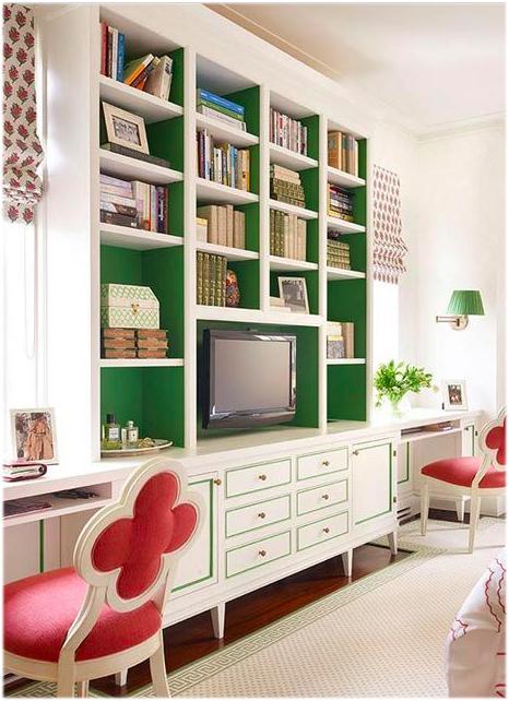 bookshelf green