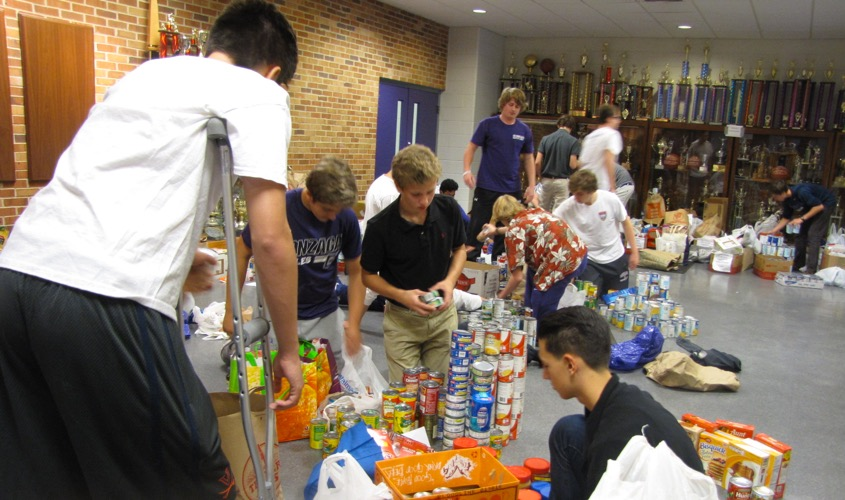 Gonzaga Canned Food Drive Supports the Food Pantry