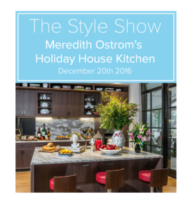 Meredith Ostrom's Holiday House Kitchen