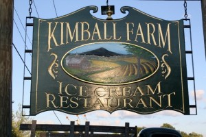 The Kimball Farm sign
