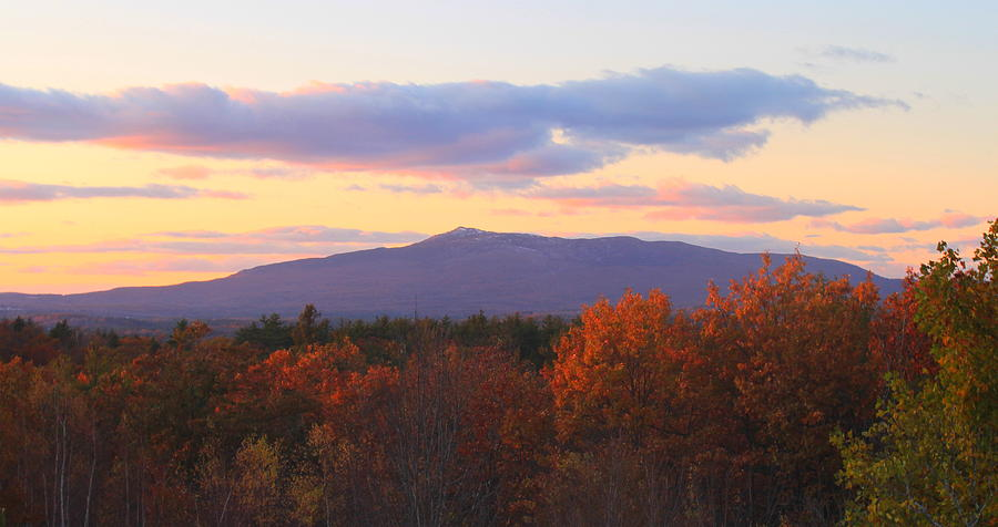 mount monadnock autumn sunset by john burk