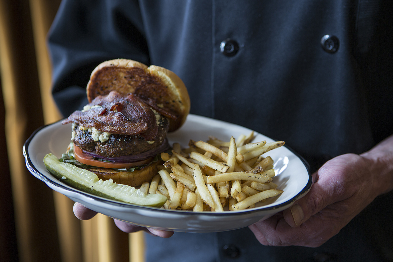 Black & Blue Bison Bacon Burger - say that 10x fast.