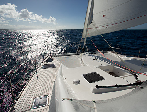 Yacht Whimbrel at sea