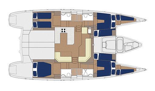 Yacht Whimbrel cabin layout