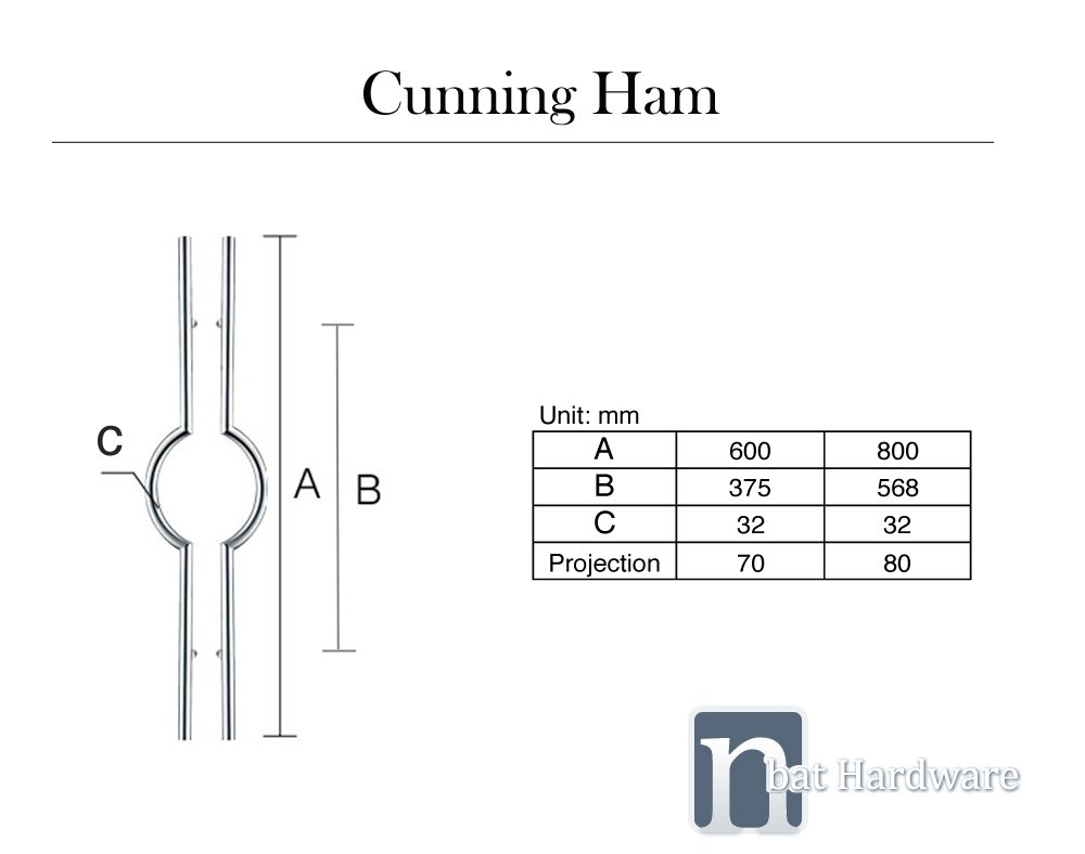 Cummingham door pull handl