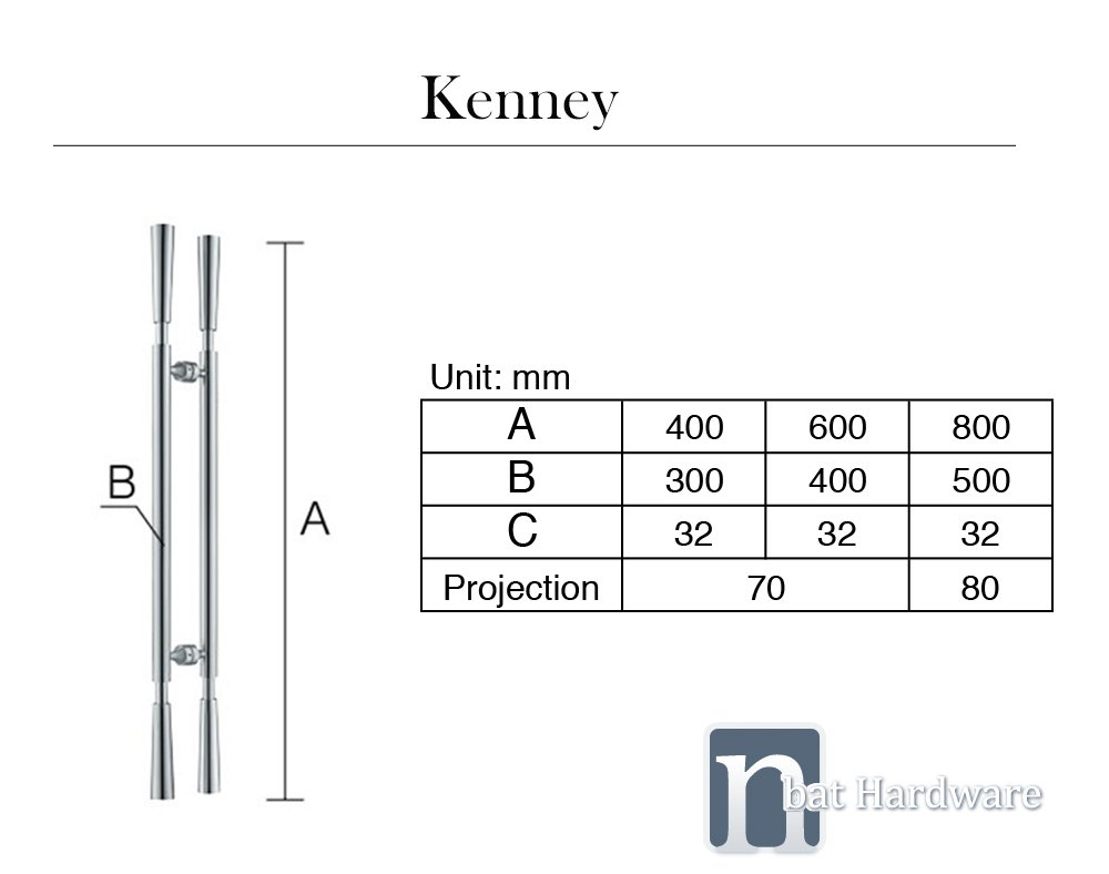Kenney entry door pull handles