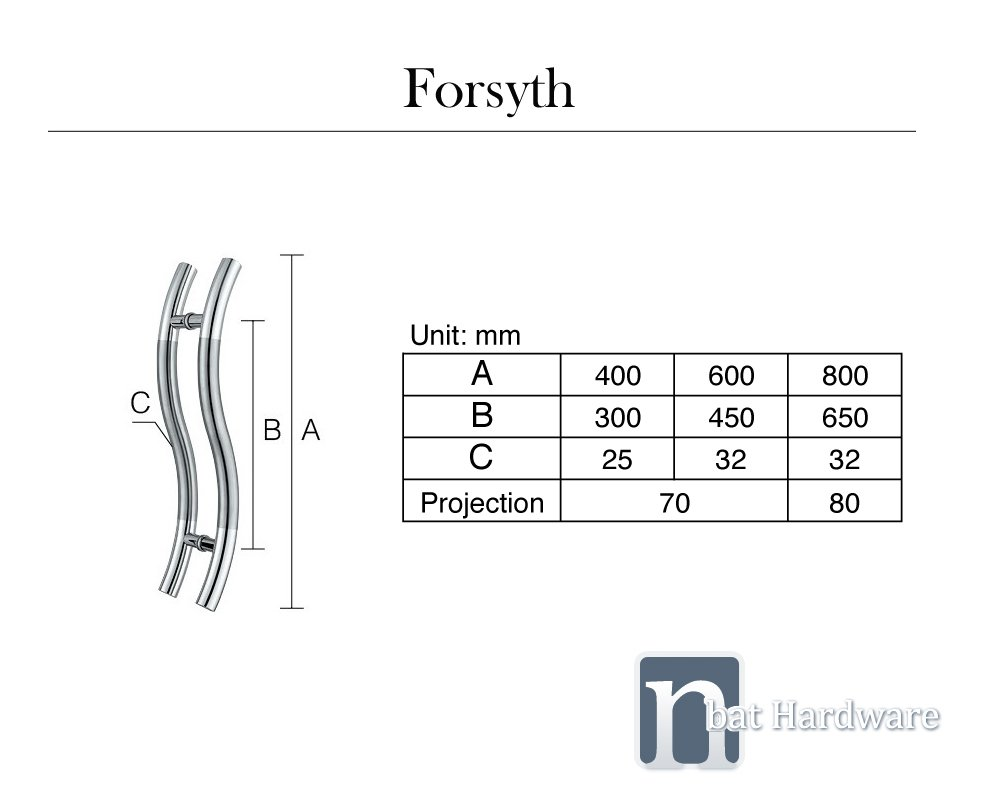 forsyth door pull handle