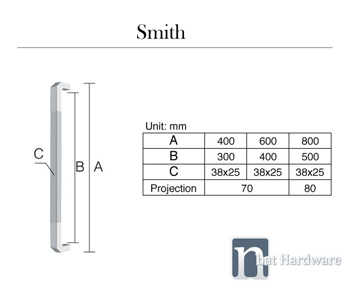 smith entry door pull