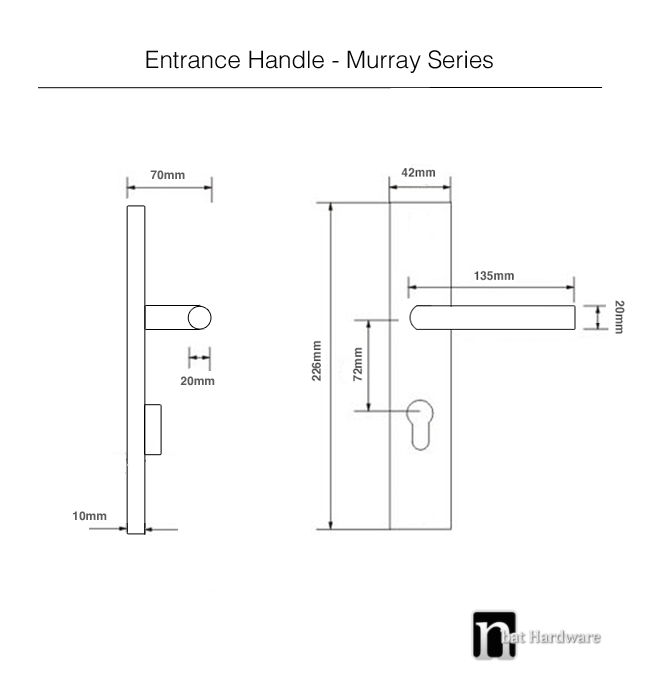 murray entrance handle drawing