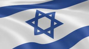 Israeli flag in the wind