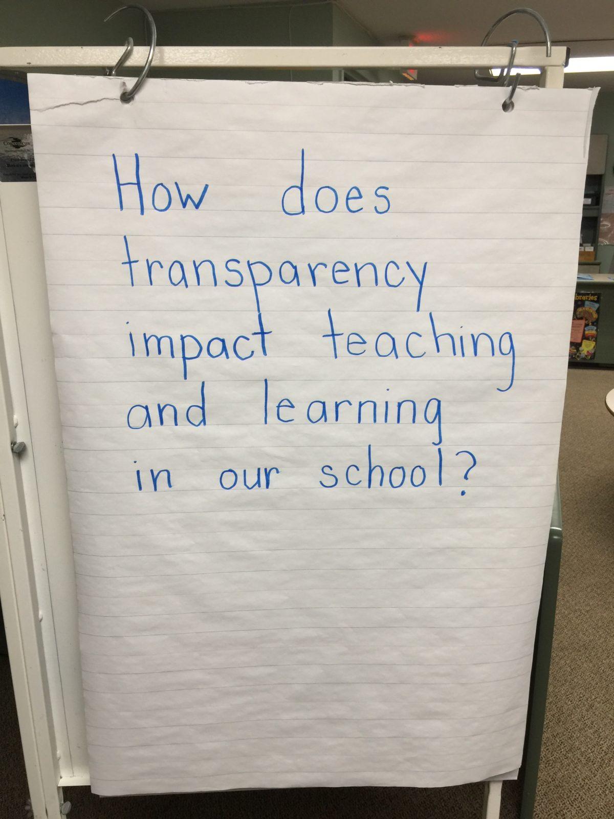 The Transparency Files: OJCS Teacher Pre-Planning