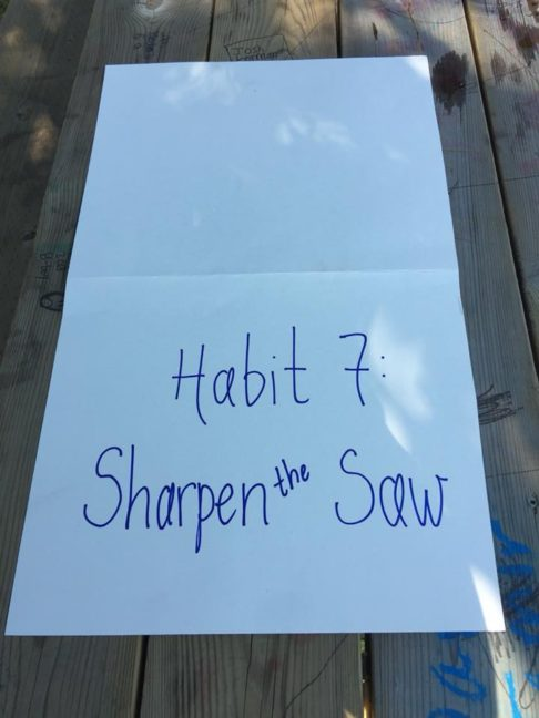 Habits of Kindness: Sharpen the Saw