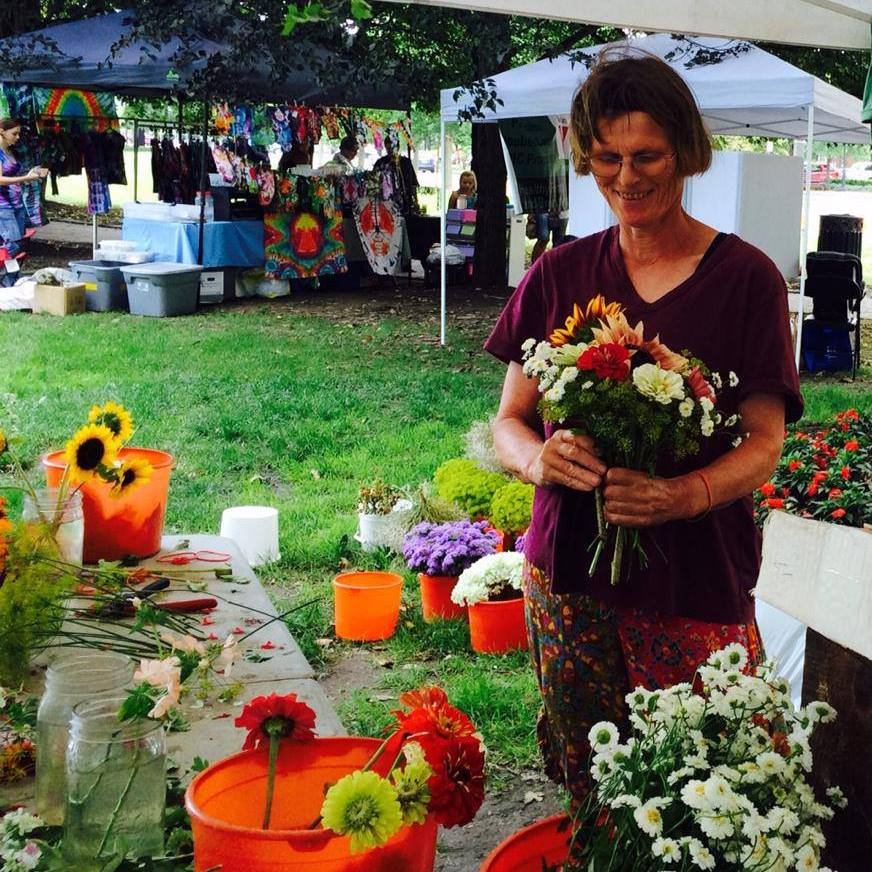 The Flower Lady and Her American Bouquet