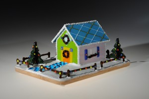 Fused Gingerbread House by Nonnie Lyketsos -Photo Credit Harry Seaman-