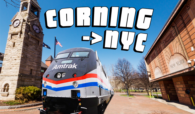 Train Service Announced from Corning to New York City!