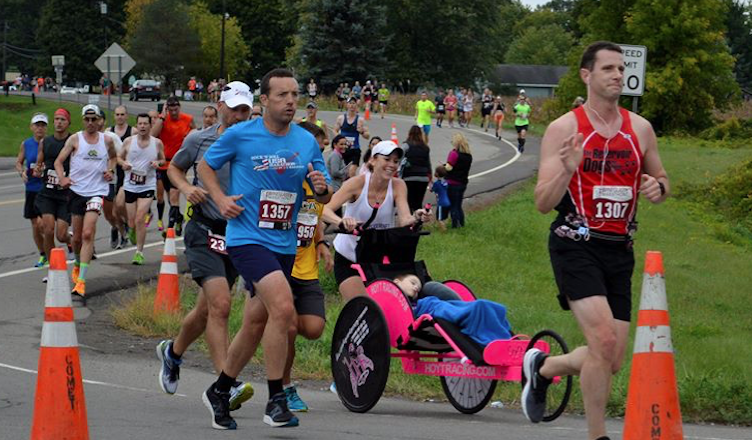 running in Corning - Wineglass Marathon