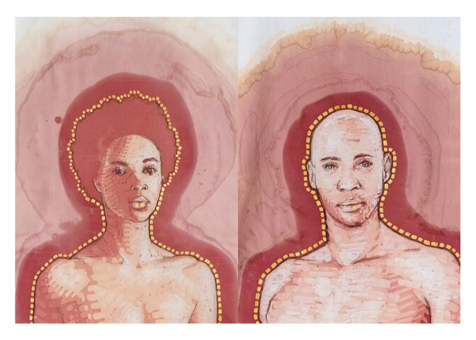 The Merism, Adam and Eve Wine Stain artwork by Amelia Harnas