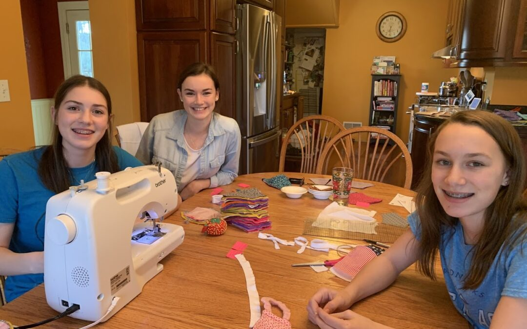 Making Masks, Supporting Heroes by Angelea Collins in Corning NY